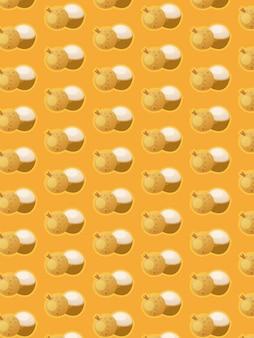 Узор лонган на желтом фоне