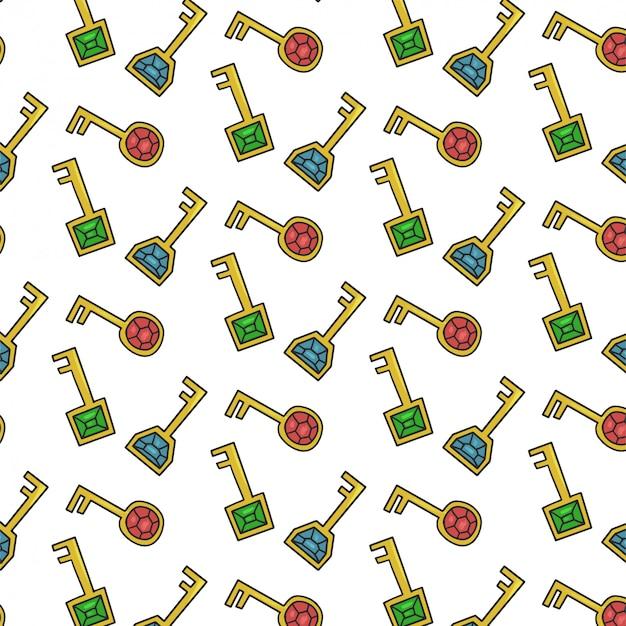 宝石キーとのシームレスなパターン