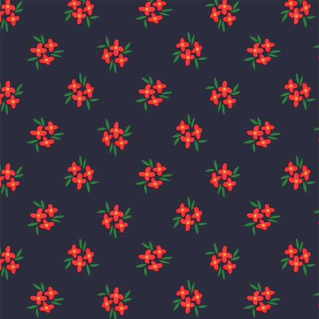小さな花と暗いパターン