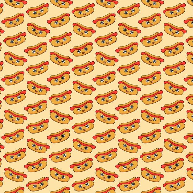 ホットドッグとのシームレスなパターン