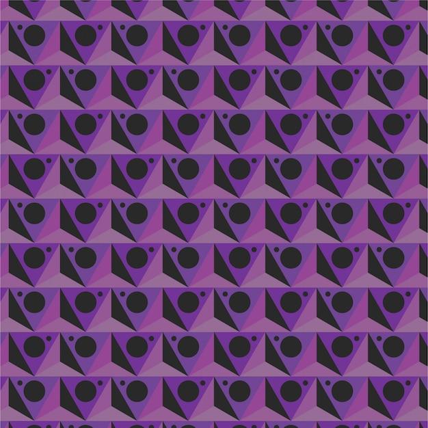 三角形紫幾何学模様