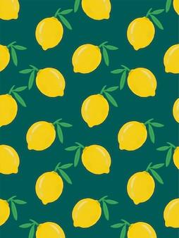 レモンの描かれたパターン