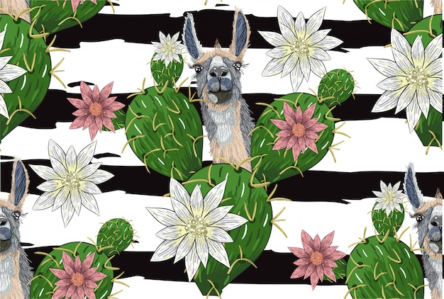 手は花の背景を描いた
