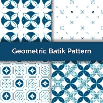 幾何学的なバティックのシームレスパターン