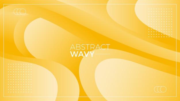 黄色の波状の抽象的な背景