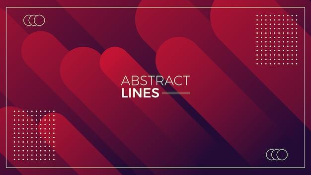 赤い線の抽象的な背景