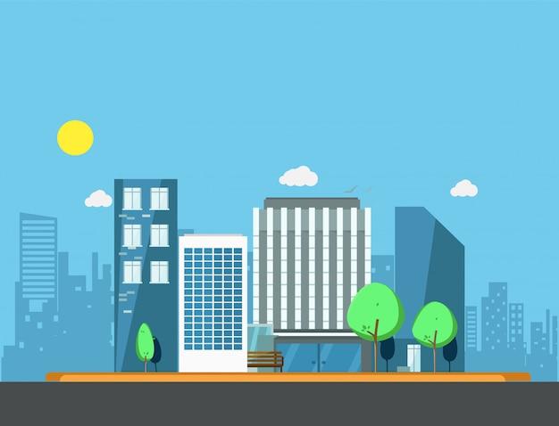 Здания в городской иллюстрации