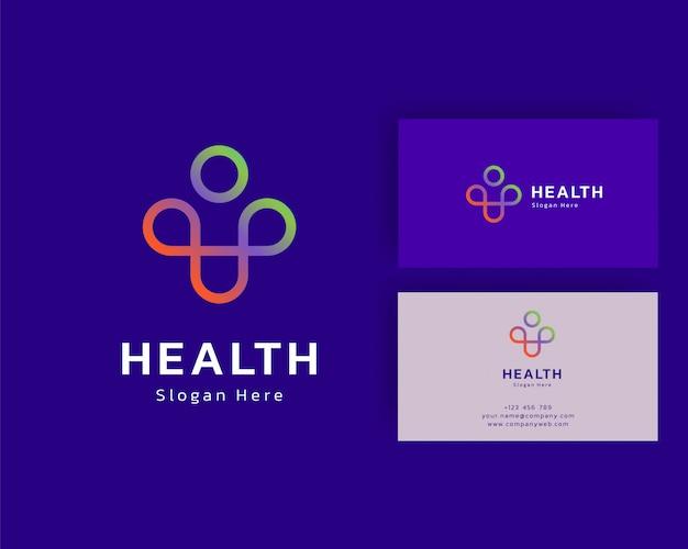 健康ロゴアイコンデザイン。