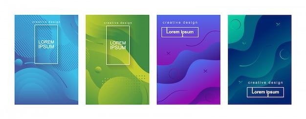 Набор шаблонов фона абстрактный минимальный геометрический градиент