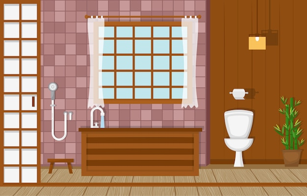 住宅の家具付きバスルーム