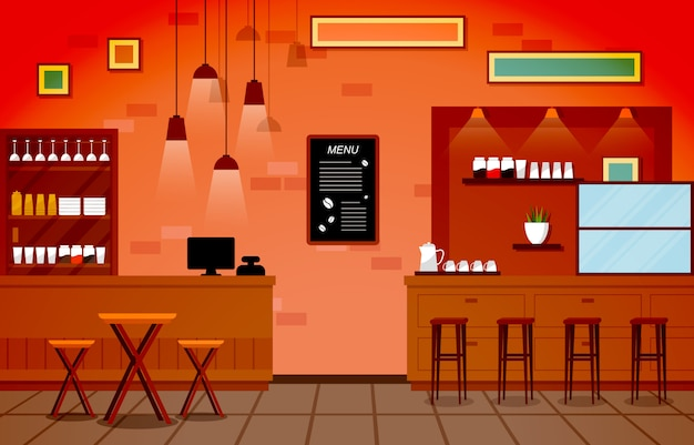 モダンなカフェコーヒーショップインテリア家具レストラン