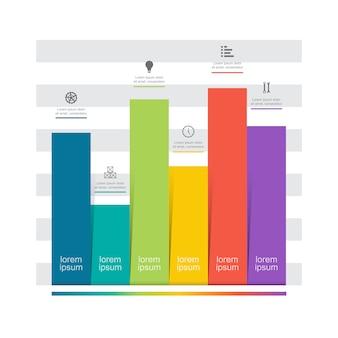 Гистограмма график диаграмма финансовая аналитика статистические бизнес инфографики иллюстрация