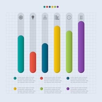 棒グラフグラフ図金融分析統計ビジネスインフォグラフィックイラスト