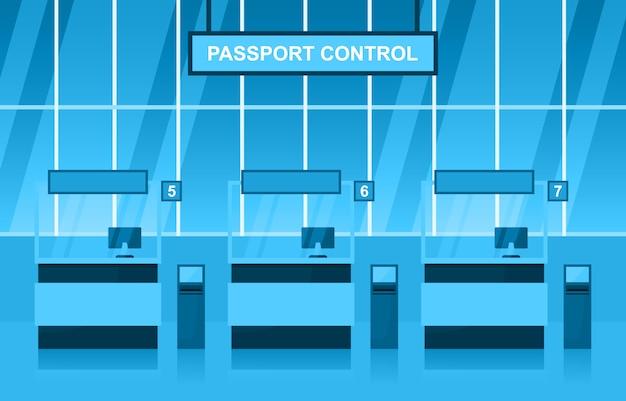 空港飛行機ターミナルゲート到着出発ホールインテリアフラット図