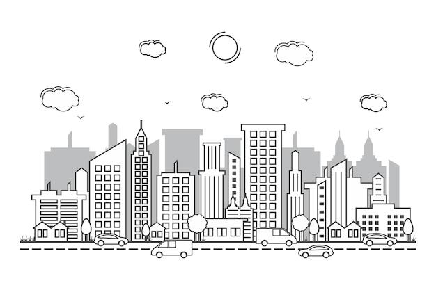 都市景観スカイライン通り道路線のデザイン図