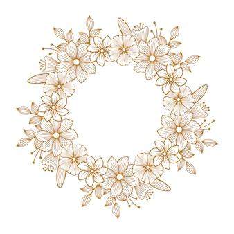 Золотая роскошь цветочный флорист свадебная линия рамка орнамент