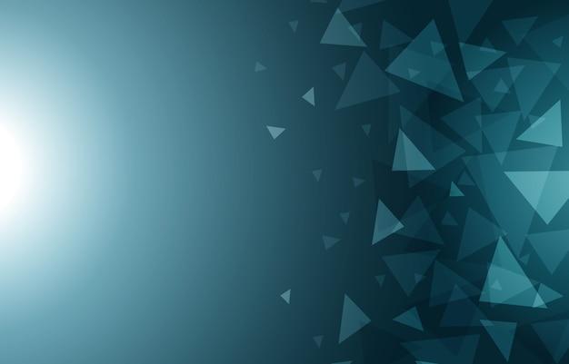 低ポリ三角幾何学的多角形クール抽象的な背景