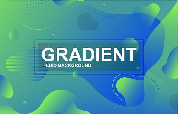カラフルなグラデーション流体液体動的形状の背景