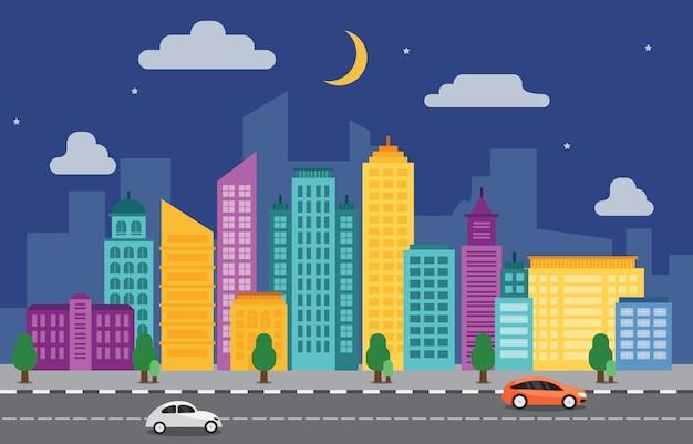 Город городской пейзаж горизонт ориентир здание дорожная улица