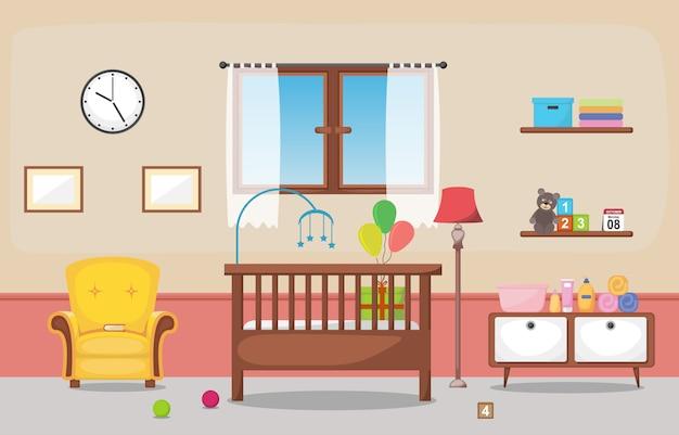 赤ちゃん幼児子供寝室インテリア部屋の家具