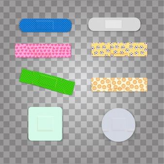 カラフルなパターンの薬プラスター包帯