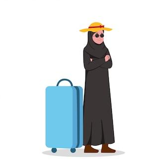 アラビアのビジネス女性の休日