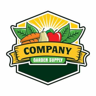 果物と野菜のロゴ