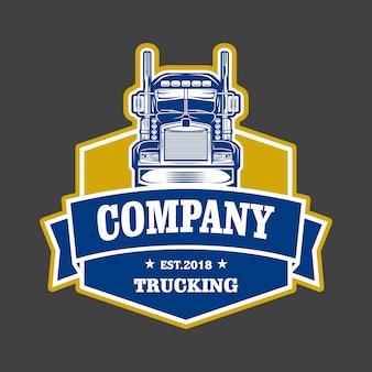 トラック運送会社のエンブレムロゴ