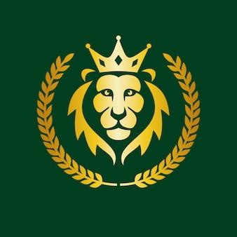 Логотип академии, элегантный логотип льва