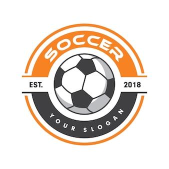 Футбольный логотип, спортивный логотип, футбольный логотип