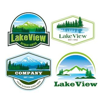 Логотип с видом на озеро