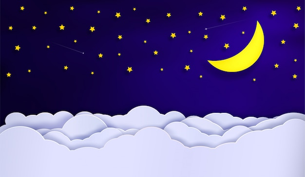 夜の空のベクトル