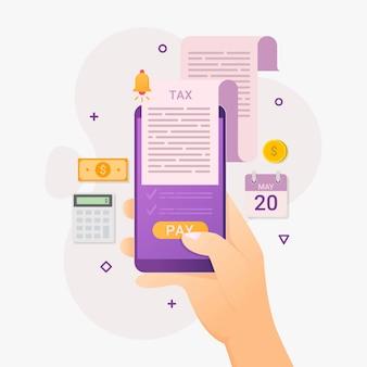 オンラインショッピングアプリの携帯電話