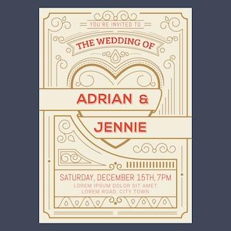 Винтажная свадебная открытка