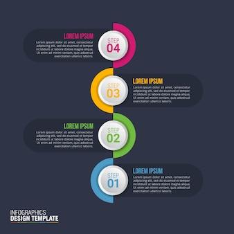 ビジネスデータの可視化のためのインフォグラフィックデザインベクトル