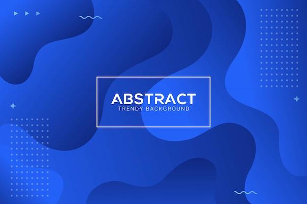 動的な抽象的な液体トレンディな青いグラデーションの背景