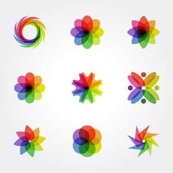 創造的なカラフルな幾何学的シンボルデザイン