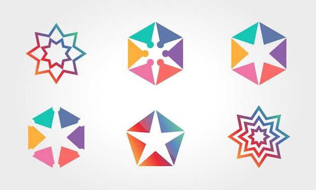 Коллекция стильных звездных символов