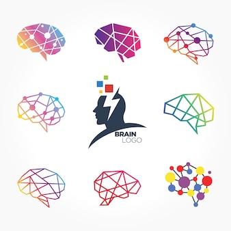 脳の創造的なシンボルコレクション