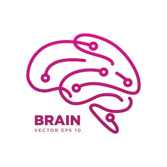 脳のシルエットシンボルデザイン