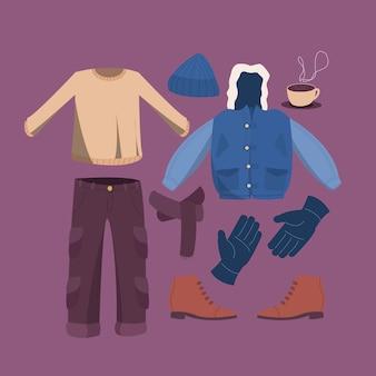 男の冬の衣装コレクション