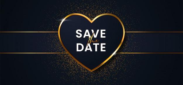 Сохранить дату роскошный свадебный фон