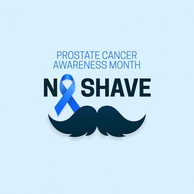 前立腺がん啓発月間のための剃毛タイポグラフィテキストなし