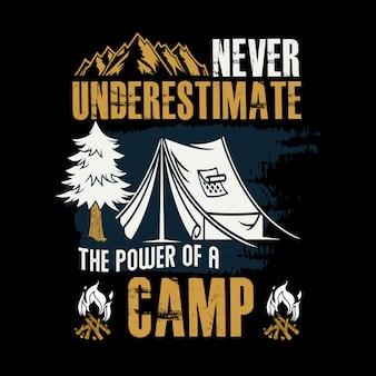 キャンプの力を絶対に過小評価しないでください