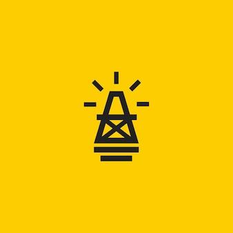 Логотип бурения нефтяных скважин