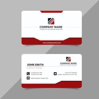 Красная современная визитная карточка