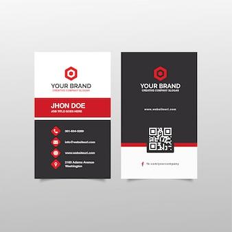 Элегантный дизайн визитной карточки