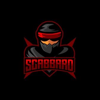 Ниндзя киберспорт логотип игровой талисман