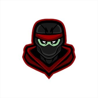 Ниндзя е спортивный дизайн логотипа