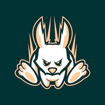 Иллюстрация бегущего кролика